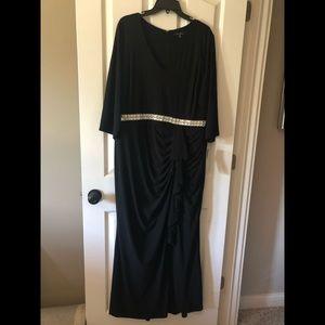 NWT Black Evening Dress Blu Sage 18W